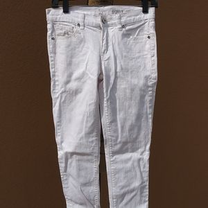 New York & Company Skinny Ankle White Jeans 0 👖